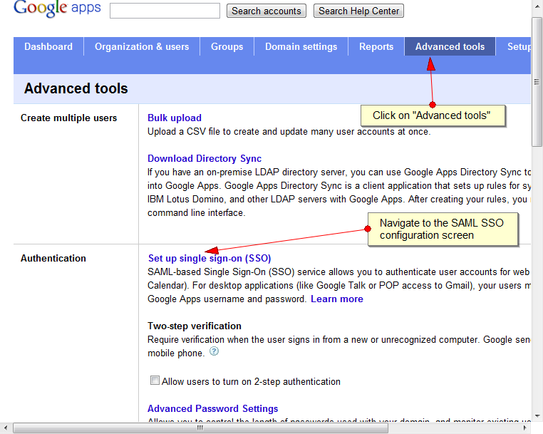 Configure SAML SSO in Google Apps