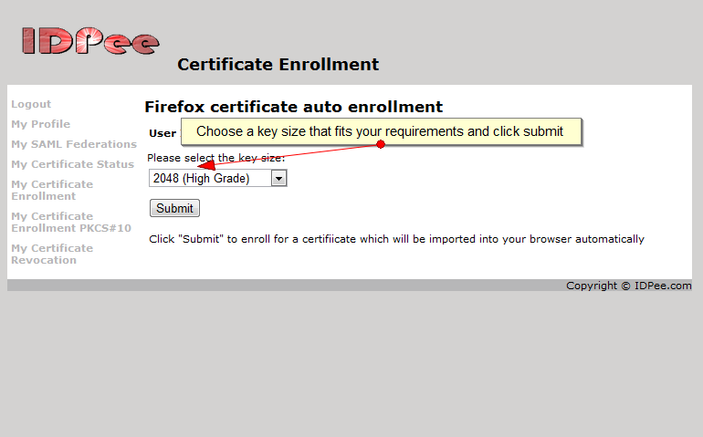 Certificate key generation and enrollment