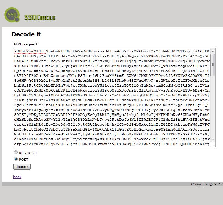 SAML Request Online Decoder / Encoder